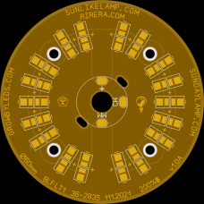 плата для 18+18шт SunLike SOL 2835 Ø60x1.6mm 2oz