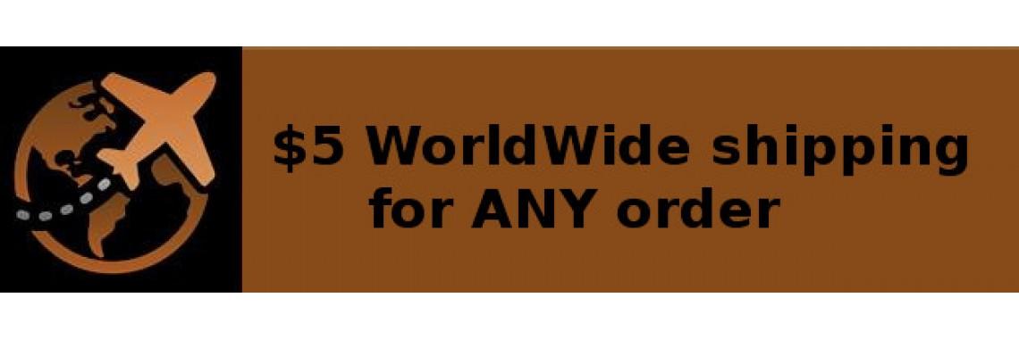 Доставка любого заказа по миру 5$